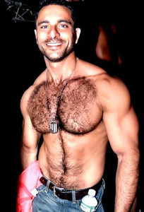 Hot hairy chest